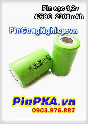 Pin Sạc Công Nghiệp-Pin Cell 1,2v CK Ni-MH 4/5SC 2000mAh